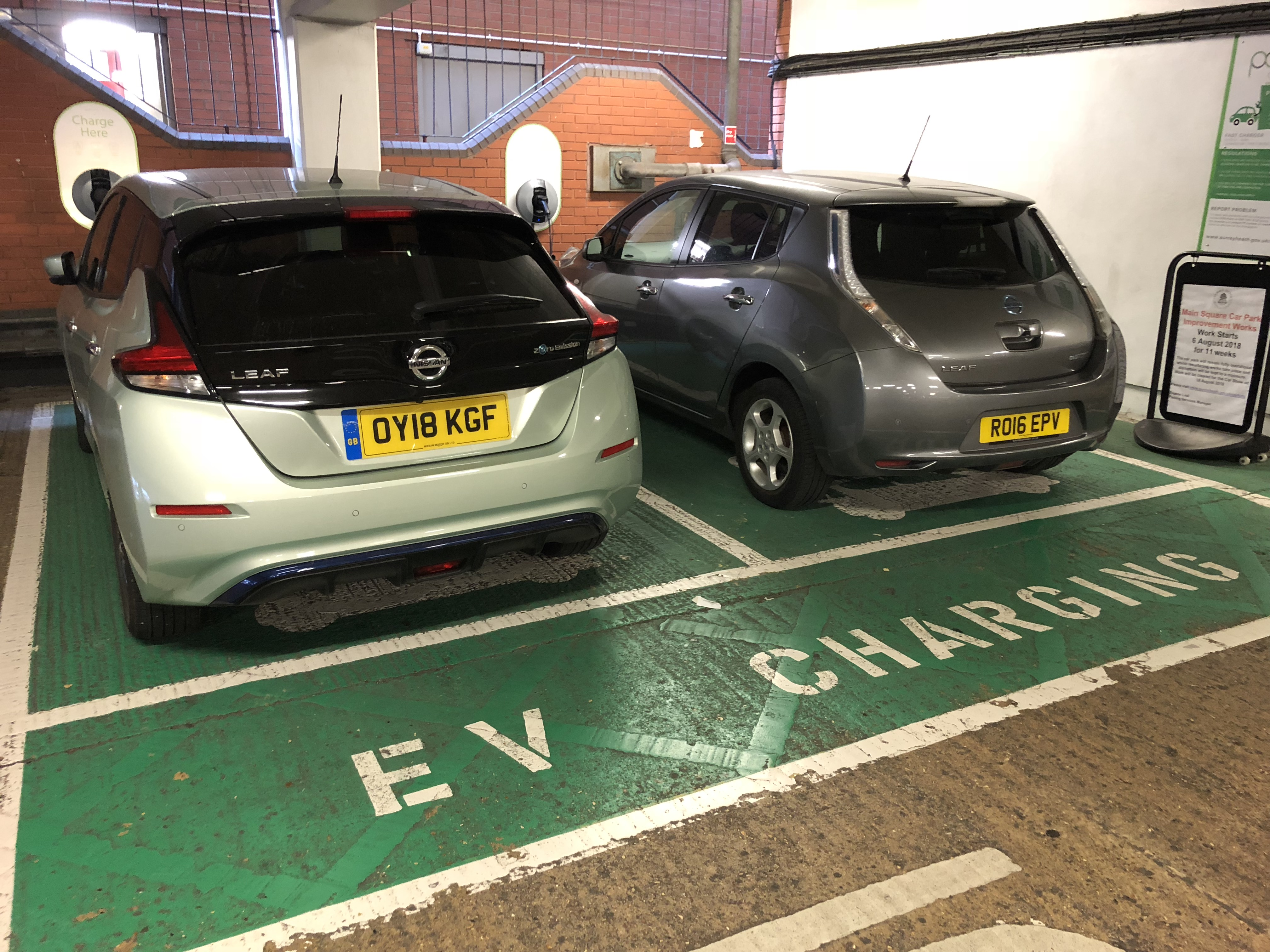 Nissan Leafs charging