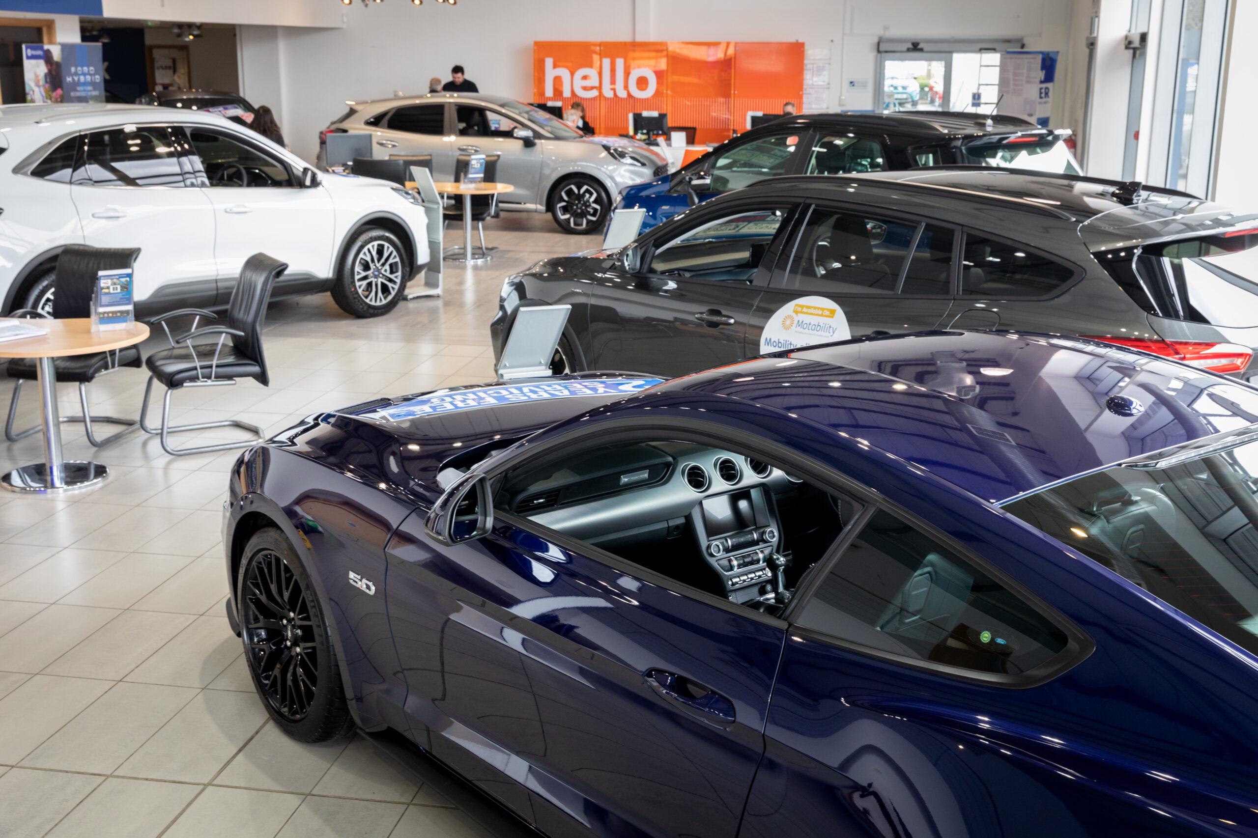 Retailer showroom
